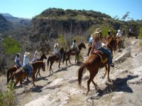 Horseback riding in the canyon