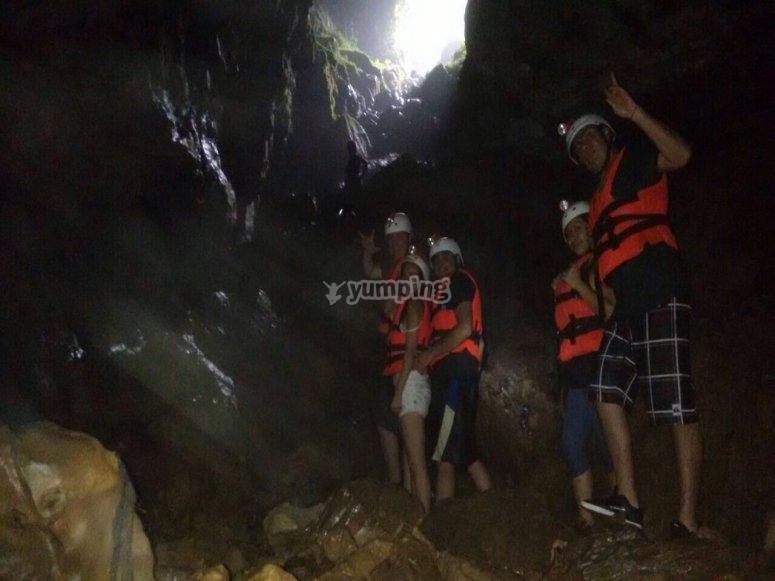 Descenso a la gruta