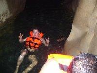 Having fun in the cave