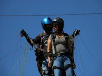 Preparing to fly in paragliding