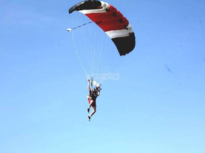 Paracaídas a 5500 pies