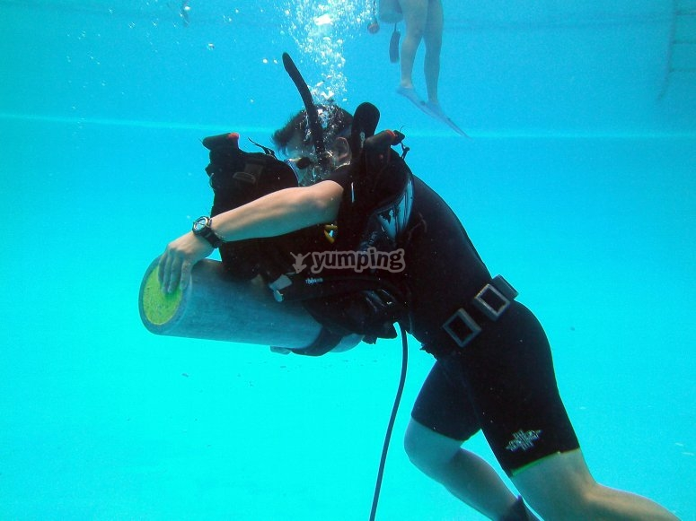 diving cylinder for an immersion