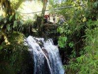 Walk in the waterfalls