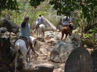 horseback riding to the waterfalls