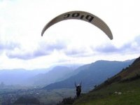 paragliding flight in Mexico