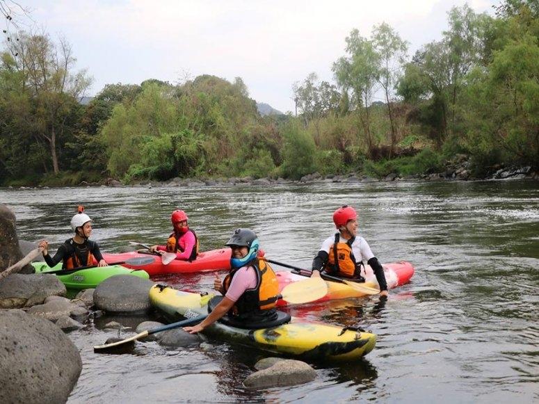 practicando en rio