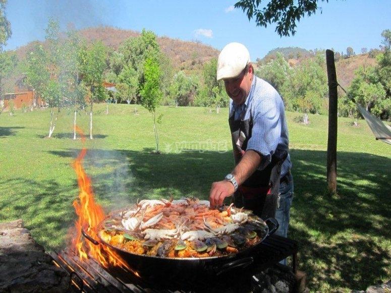 BBQ to prepare barbecue