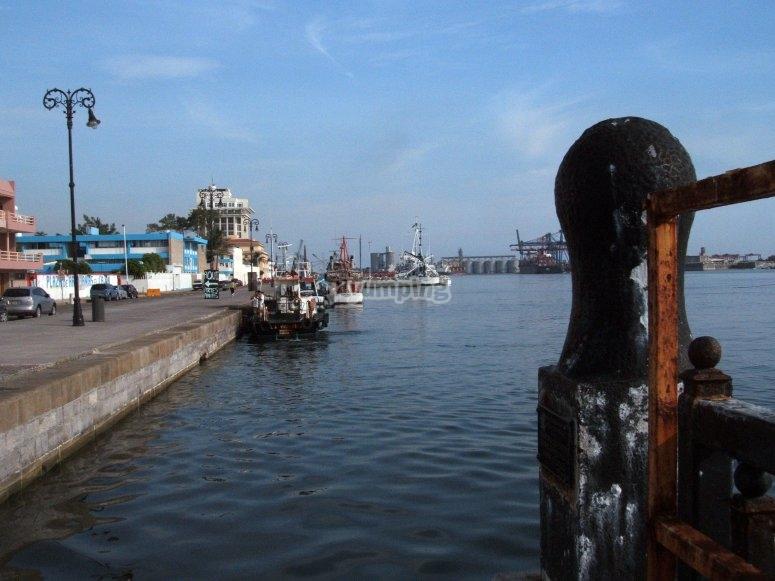 Leaving the port in Veracruz
