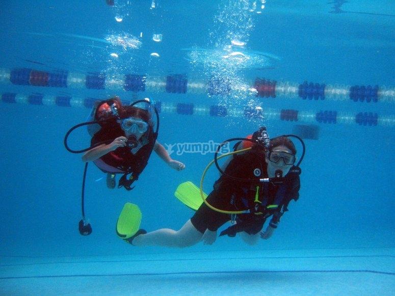 Class in pool
