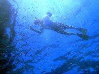 Practicando el snorkel