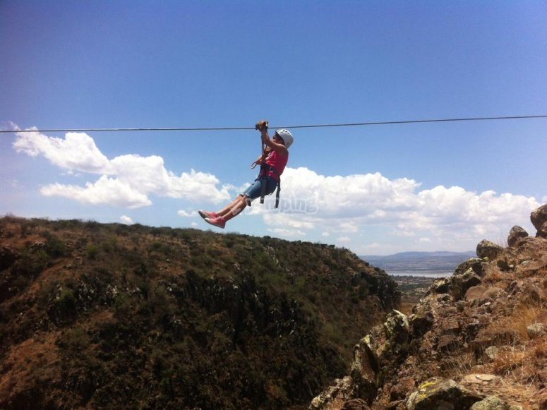 Jump on our zip line
