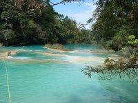 walking through the Agua Azul cascades