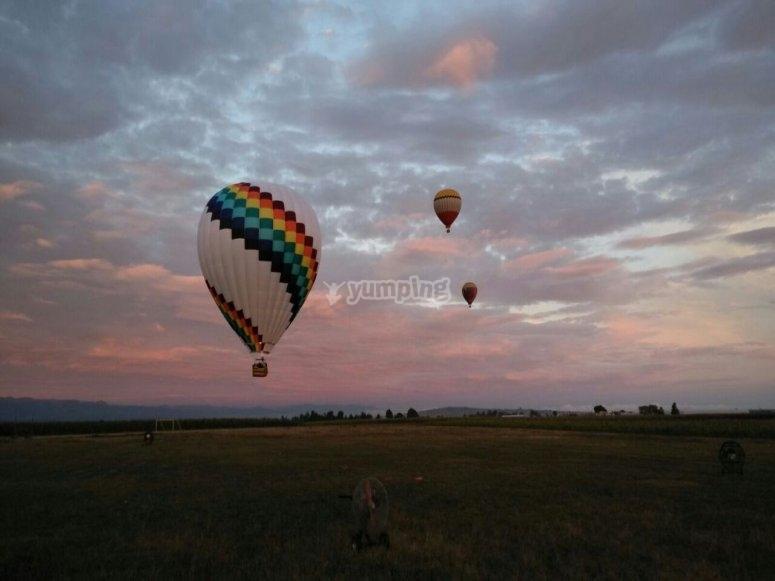 Balloon flight in Queretaro