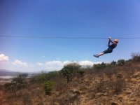 Zip line in the cannon