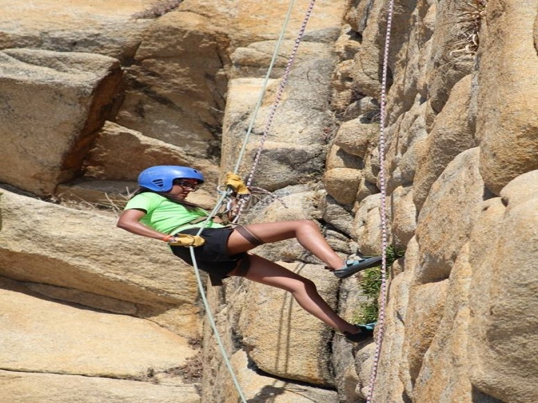 Climbing and abseiling session