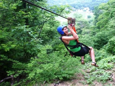 2h zip-lines activity in Huatulco