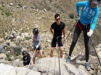 Descending huge rocks