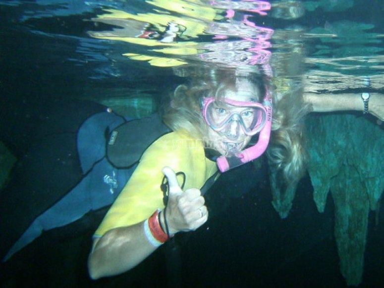Snorkel in natural pool