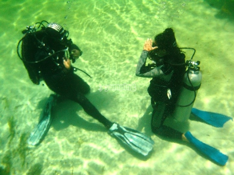 Tecnicas de buceo en cenote
