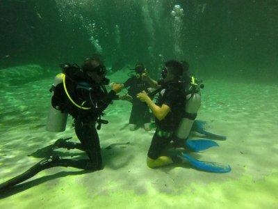 Bucear primera vez en cenote y arrecife Riviera Maya