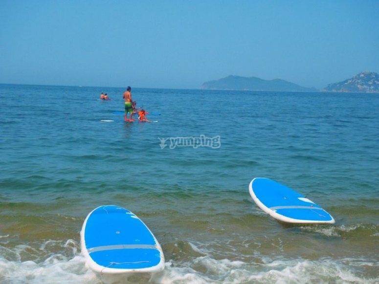la familia en paddle