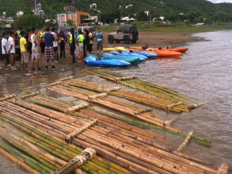 Kayaks listos para su uso