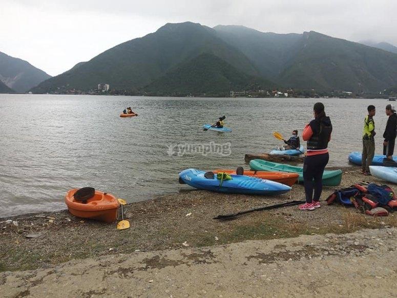Kayaking en la presa