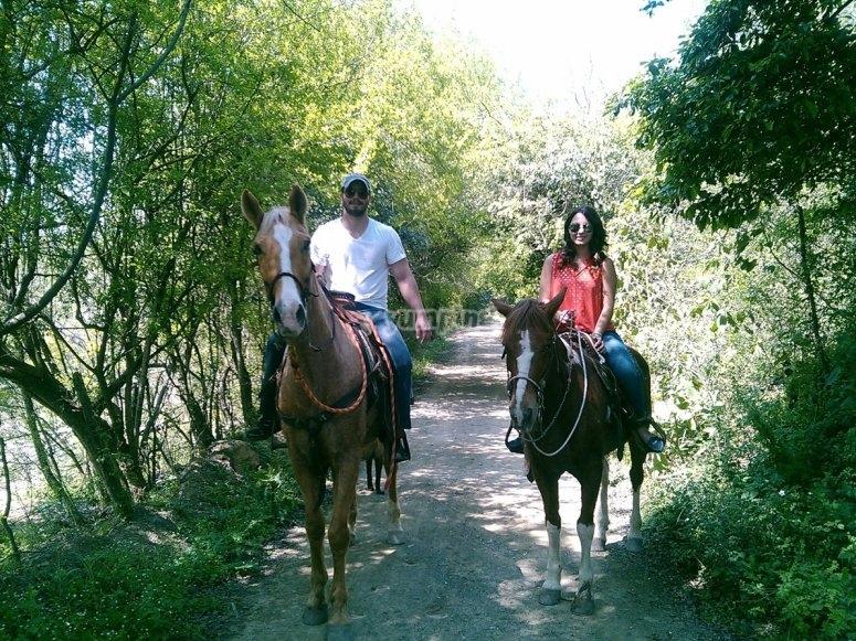 Spending the day on horseback