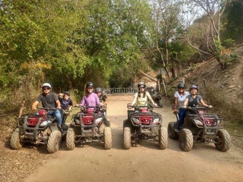 Family on ATV
