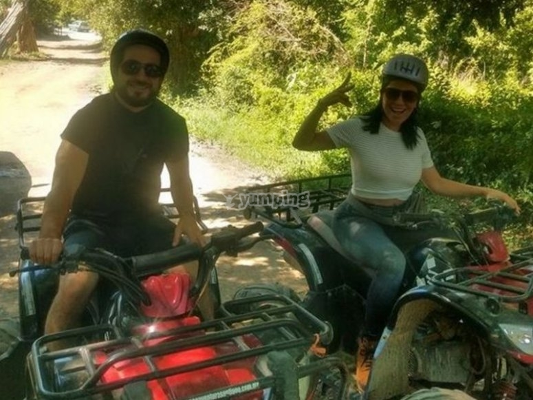 Couple on ATV