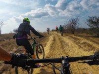 Starting the bike tour
