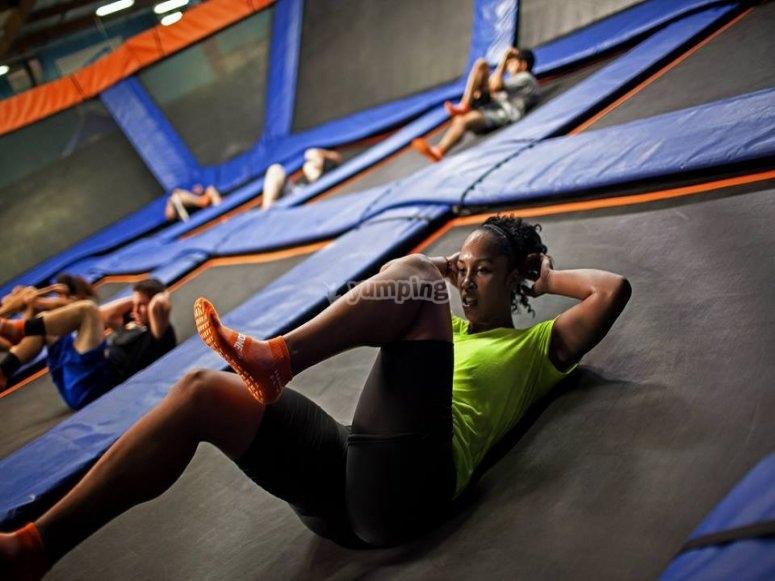 Skyrobics exercises