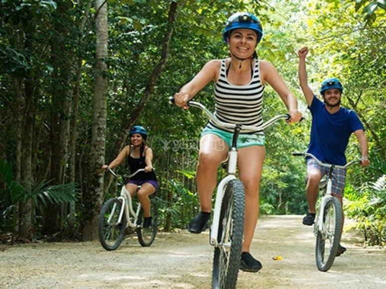 Bike ride in the jungle