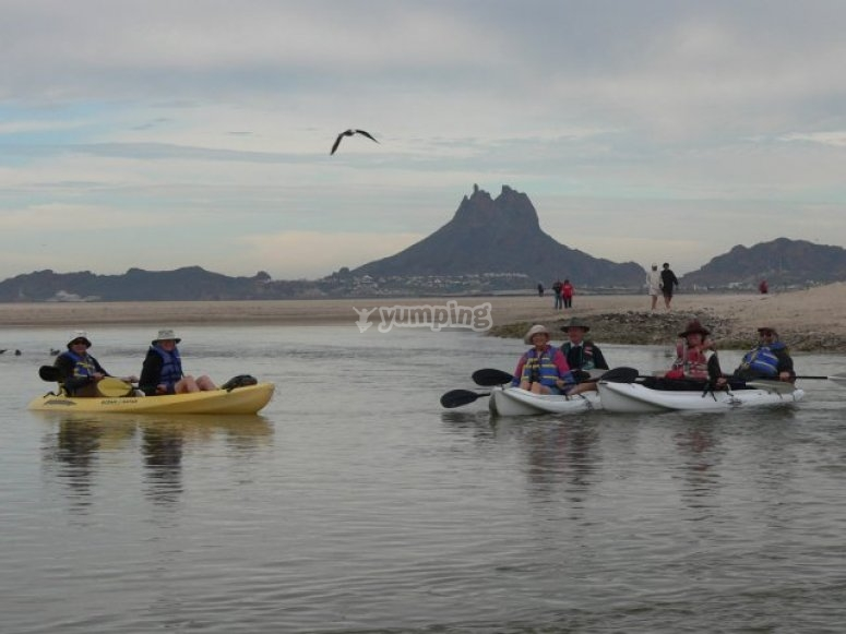 Kayak on the Sea of Cortez