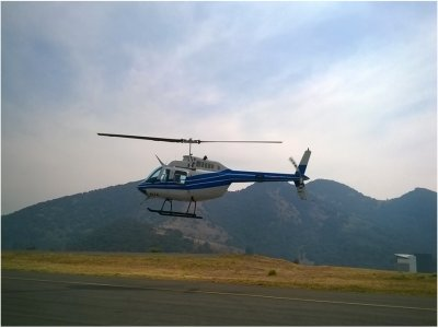 Bell 206 helicopter flight in Mexico City
