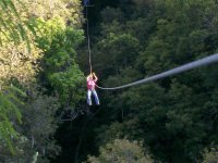 Zip line over the canyon