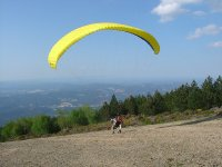 Prepared to fly paragliding
