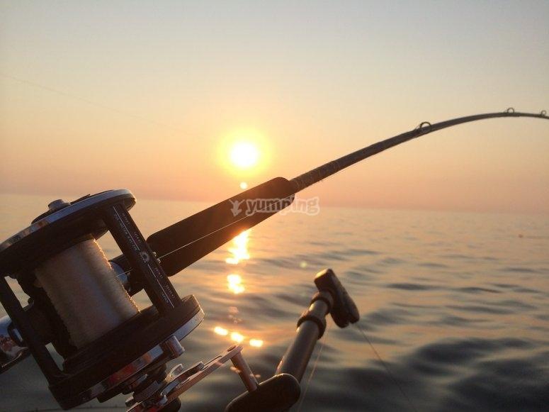 Dia de pesca en el mar