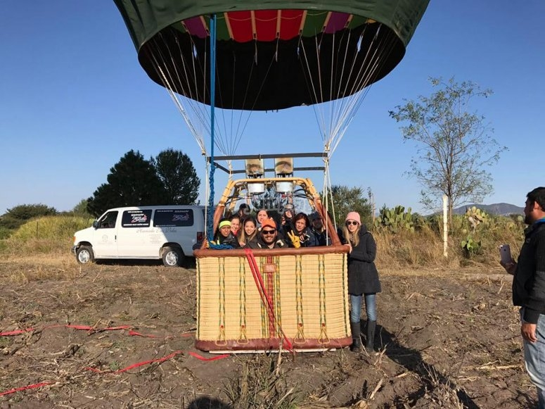 About to make the balloon flight