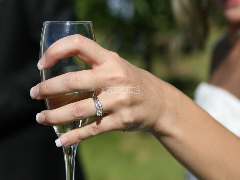 A toast because of your engagement