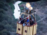 During the balloon ride through Querétaro