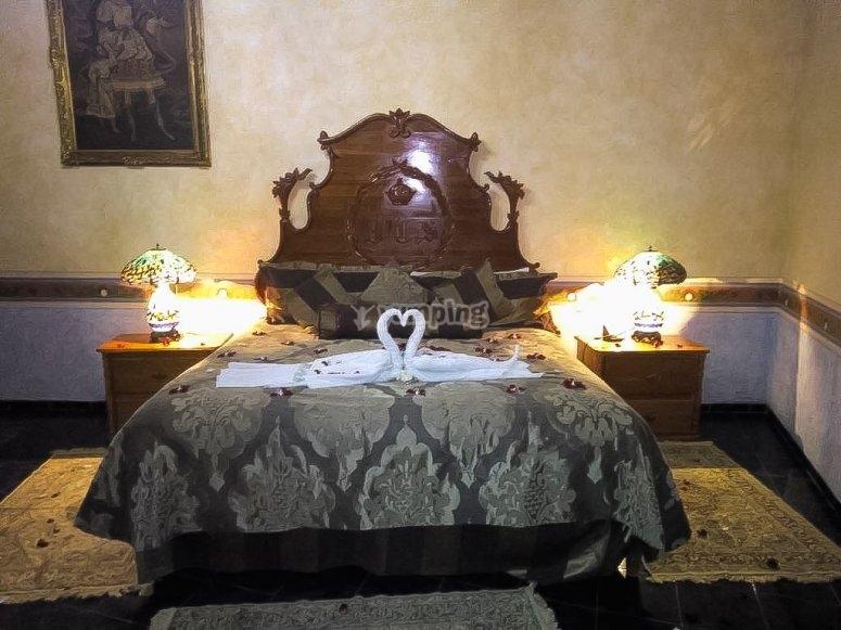 Double room at the Hacienda Tres Vidas