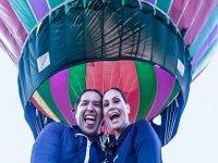 Fun balloon ride as a couple