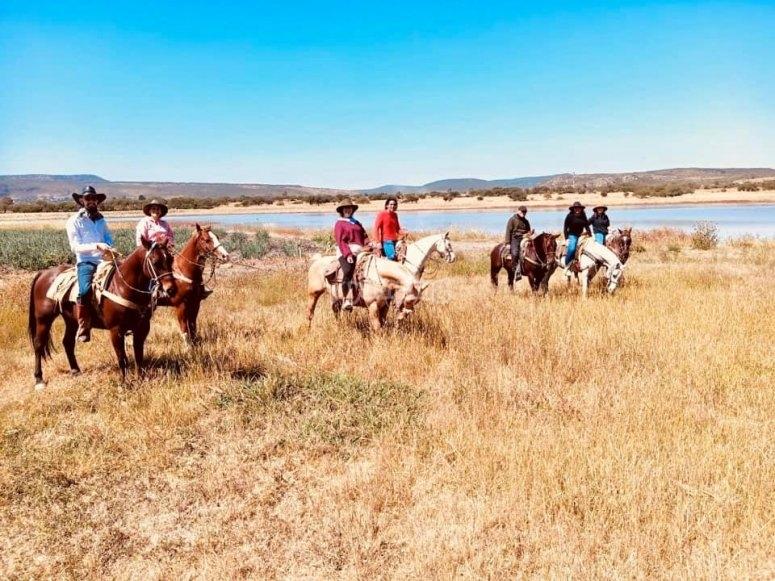 Enjoying the horseback riding