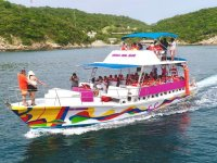Ride on a colorful yacht