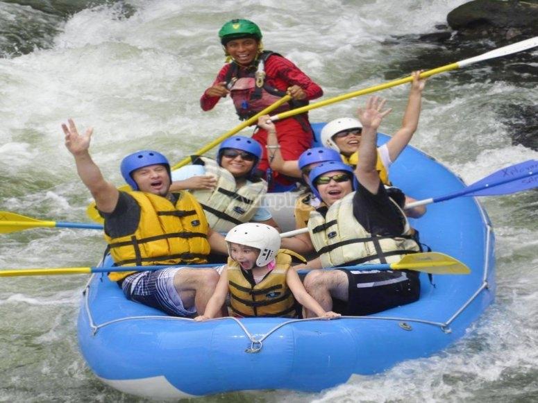 Rafting in Jalcomulco.