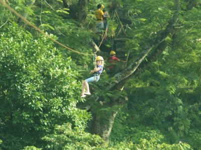 Zip line in Jalcomulco, Veracruz