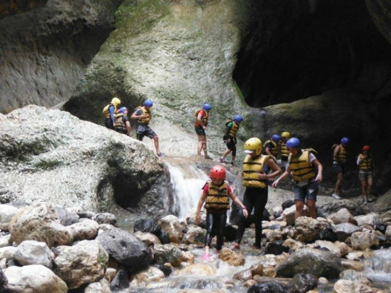 Exercise body and mind with this route of canyoneering