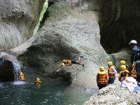 Canyoning in Jalcomulco.