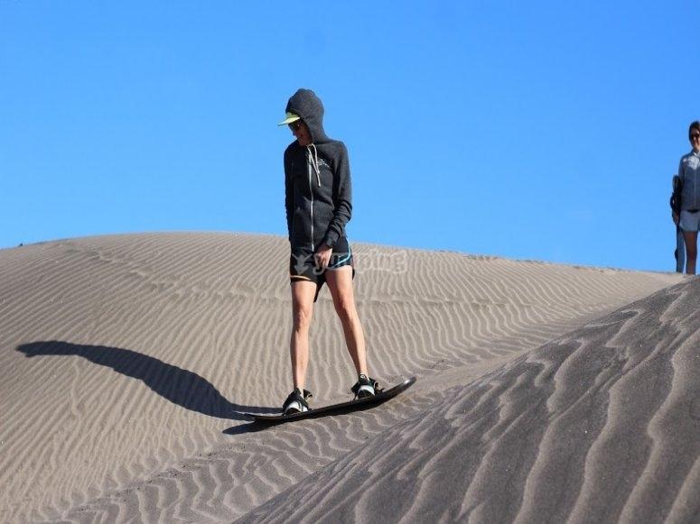 Deslizandote por las dunas